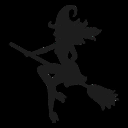 Silueta clásica de bruja de halloween Transparent PNG