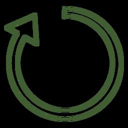 Icono de flecha en el sentido de las agujas del reloj