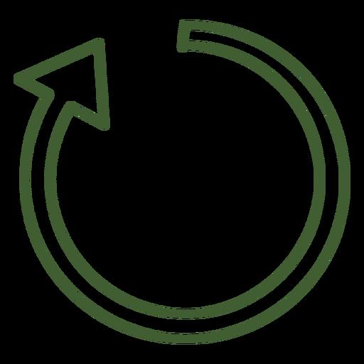 Icono de flecha en el sentido de las agujas del reloj Transparent PNG