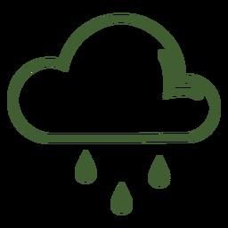 Wolke-Regen-Symbol