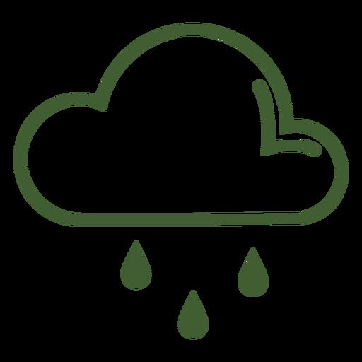Icono de lluvia de nubes Transparent PNG