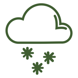 Cloud snowfall icon