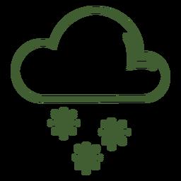 Wolke Schneefall-Symbol