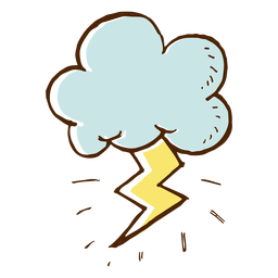 Cloud and lightning icon