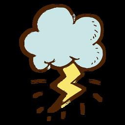 Icono de nube y rayo