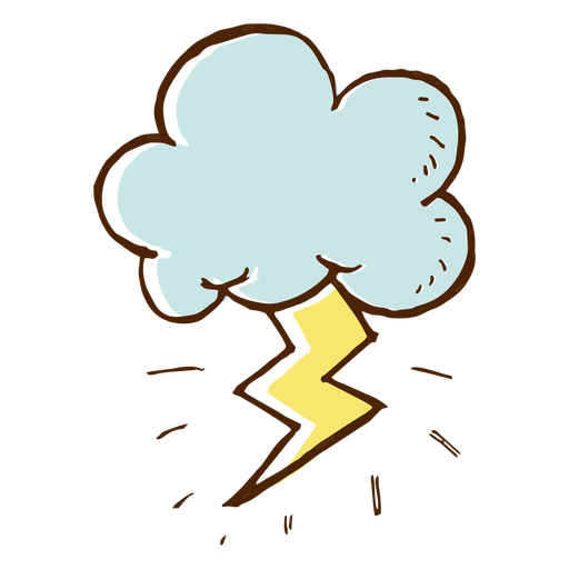 Cloud and lightning icon Transparent PNG
