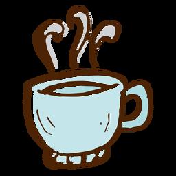 Icono de taza de café camping