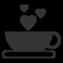 Icono de vector de taza de café