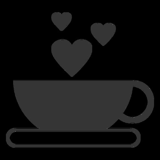 Icono de vector de taza de café Transparent PNG