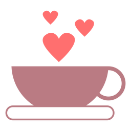 Coffee love line style icon