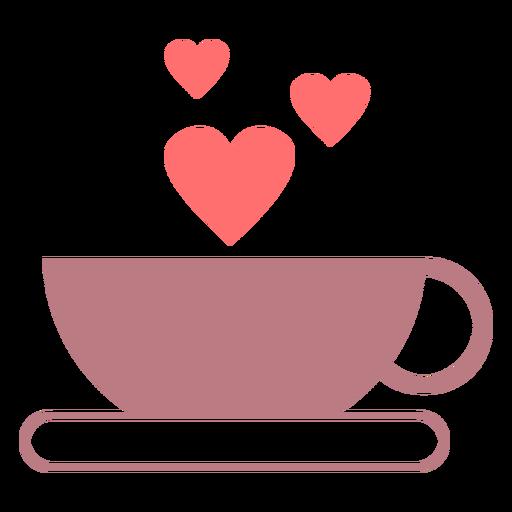 Icono de estilo de línea de amor de café Transparent PNG