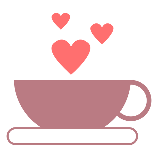 Kaffee Liebe Linie Stilikone Transparent PNG