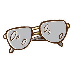 Colored hand drawn sunglasses icon
