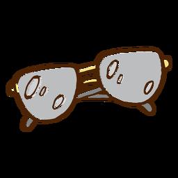 Icono de color dibujado a mano gafas de sol