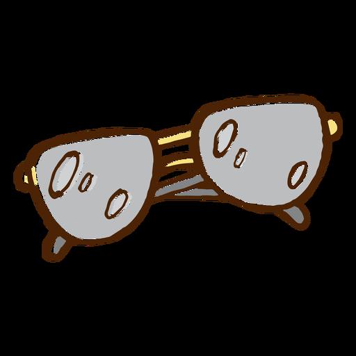 Icono de color dibujado a mano gafas de sol Transparent PNG
