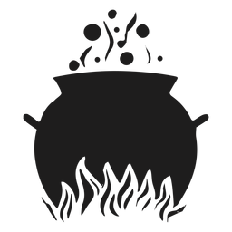 Cooking cauldron silhouette