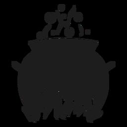 Cooking cauldron silhouette