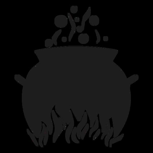 Caldero de cocina silueta Transparent PNG