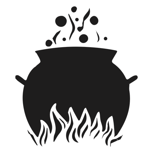 Silhueta de caldeirão de cozinha