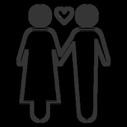 Casal amor ícone vector