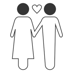 Couple love vector icon