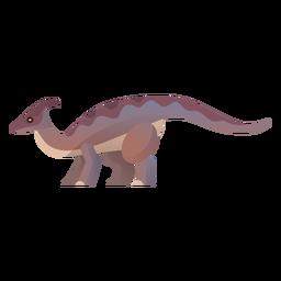 Cretaceous dinosaur vector