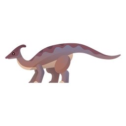 Vector cretaceous dinosaurio