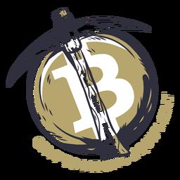 Insignia de equipo de minería crypto