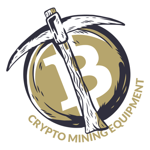 Crypto mining equipment badge Transparent PNG