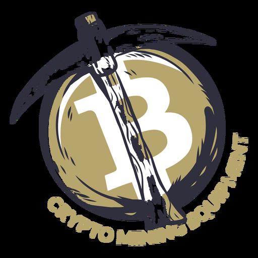 Crypto mining equipment badge