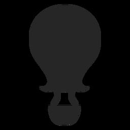 Silueta de globo de aire con extremo curvo