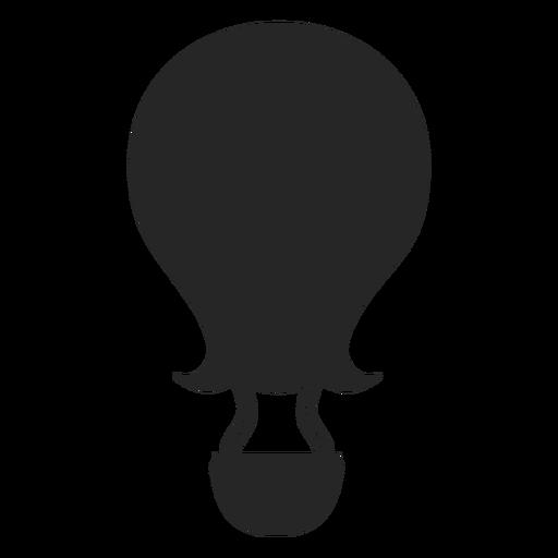 Silueta de globo aerostático de punta curva. Transparent PNG