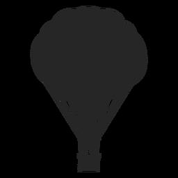 Curvy Heißluftballonschattenbild