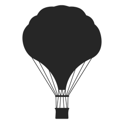 Silueta de globo aerostático con curvas