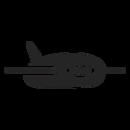Cute airplane icon