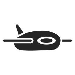 Niedliche Flugzeug-Symbol