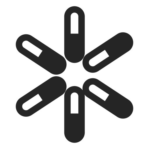 Abstract asterisk icon Transparent PNG