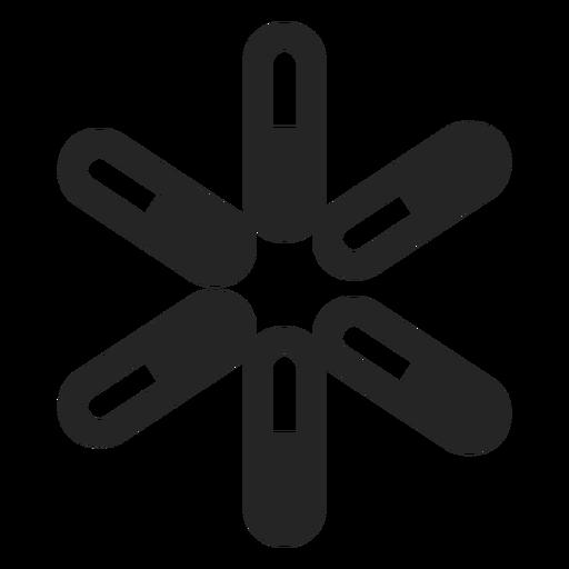 Sternsymbol abstrakt Transparent PNG