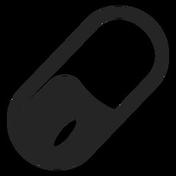 Ícone de cápsula simples