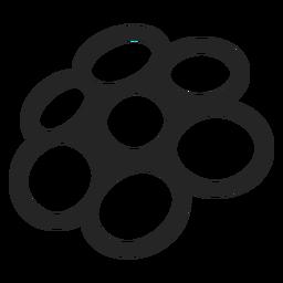 Ícone de gráficos de círculo de perspectiva