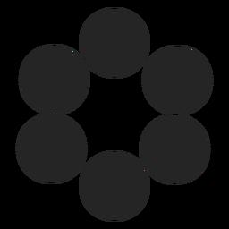 Ícone de ícone de gráficos de círculo