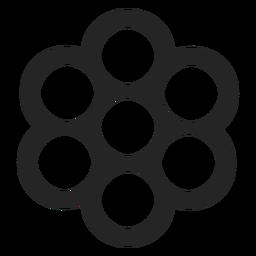 Un montón de icono de formas circulares