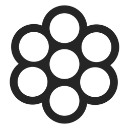 Viele kreisförmige Formen Symbol