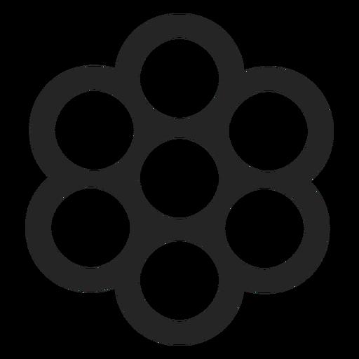 Muitas formas circulares ícone Transparent PNG