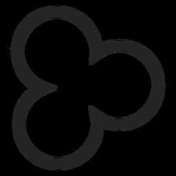Icono de trébol trazo