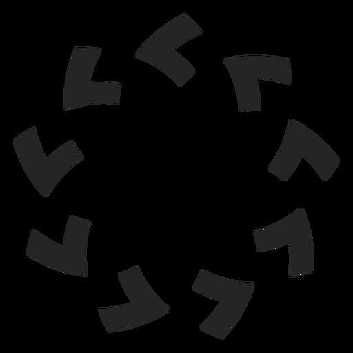 Counterclockwise arrows graphics