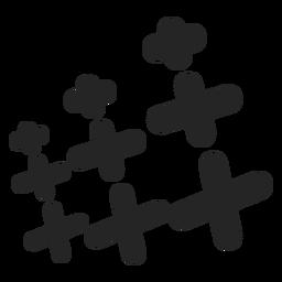 Jogo, de, cruzes, ícone