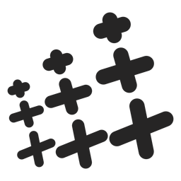 Set of crosses icon