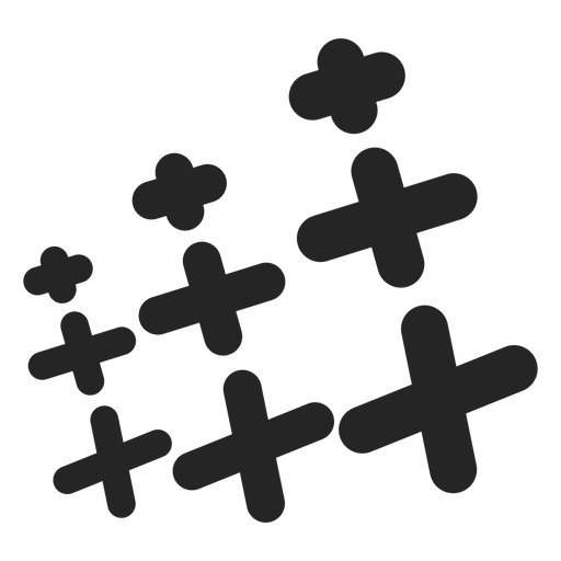 Set of crosses icon Transparent PNG