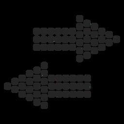 Icono de flechas punteadas